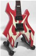 MINI GUITAR: SLAYER - KING KERRY - BC RICH BEAST KK WARTRIBE RED/WHITE